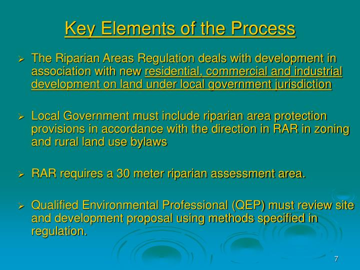 Key Elements of the Process