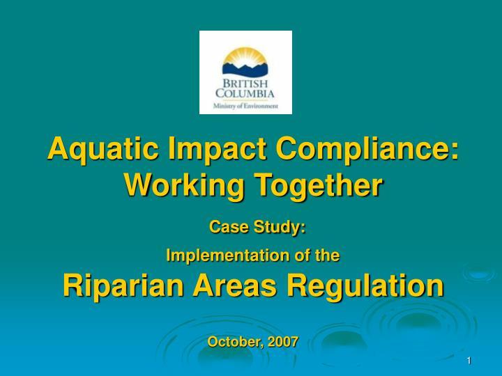 Aquatic Impact Compliance:
