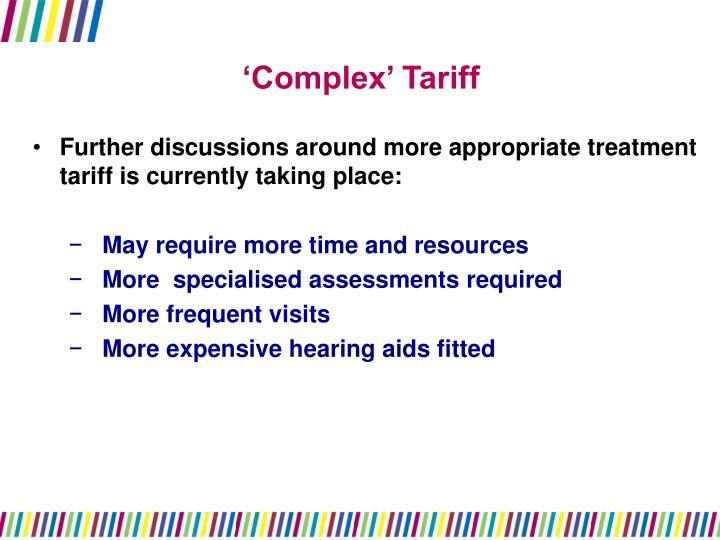 'Complex' Tariff