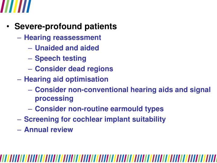 Severe-profound patients