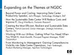 expanding on the themes at ngdc