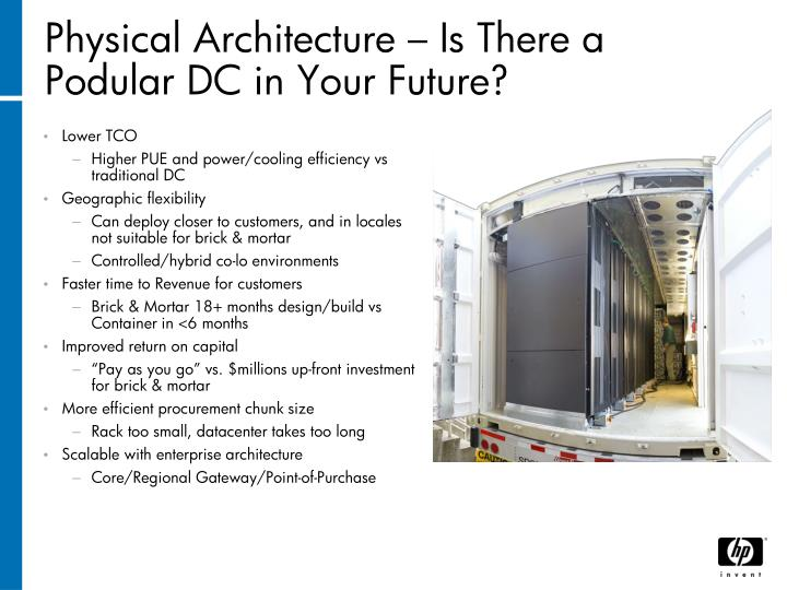 Physical Architecture – Is There a Podular DC in Your Future?