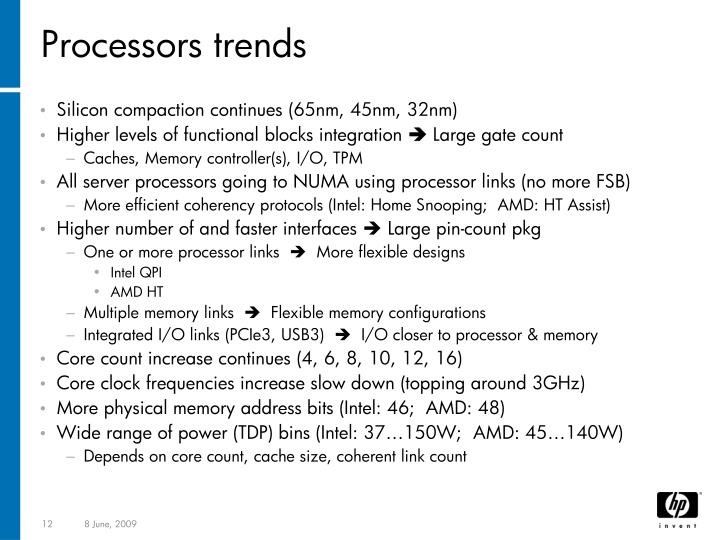 Processors trends