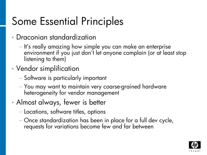Some Essential Principles