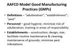 aafco model good manufacturing practices gmps1