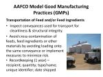 aafco model good manufacturing practices gmps11