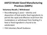aafco model good manufacturing practices gmps12