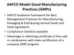 aafco model good manufacturing practices gmps13