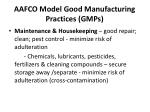 aafco model good manufacturing practices gmps3