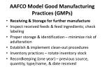aafco model good manufacturing practices gmps5