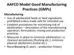 aafco model good manufacturing practices gmps6
