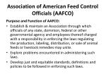 association of american feed control officials aafco2