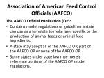 association of american feed control officials aafco5