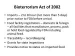 bioterrorism act of 20021