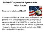 federal cooperative agreements with states