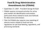 food drug administration amendments act fdaaa