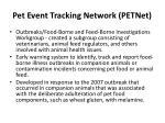 pet event tracking network petnet2