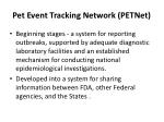 pet event tracking network petnet3