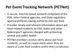 pet event tracking network petnet4