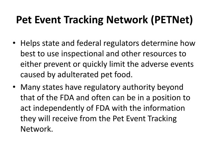 Pet Event Tracking Network (