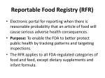 reportable food registry rfr