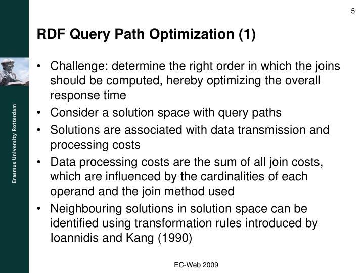 RDF Query Path Optimization (1)