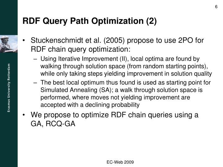 RDF Query Path Optimization (2)
