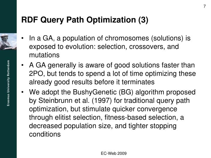 RDF Query Path Optimization (3)