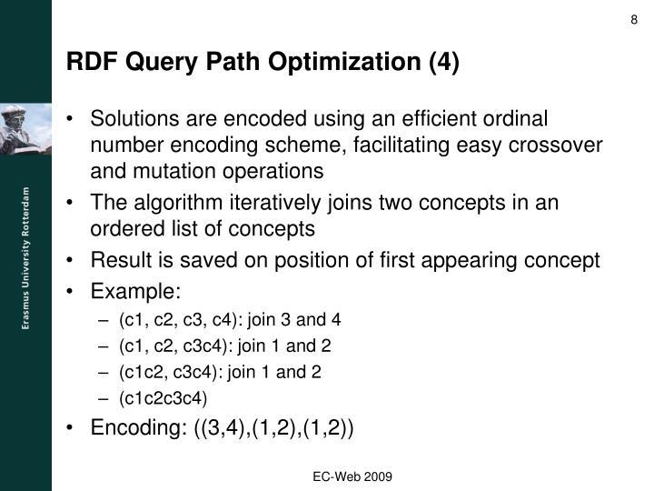RDF Query Path Optimization (4)
