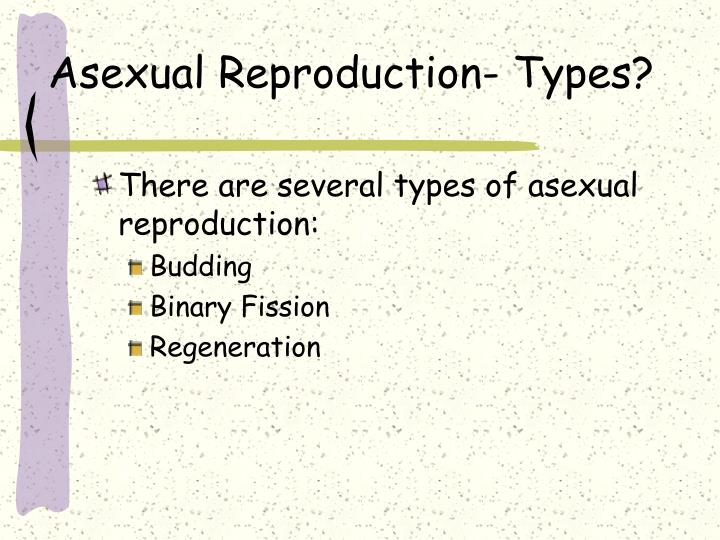 Asexual Reproduction- Types?