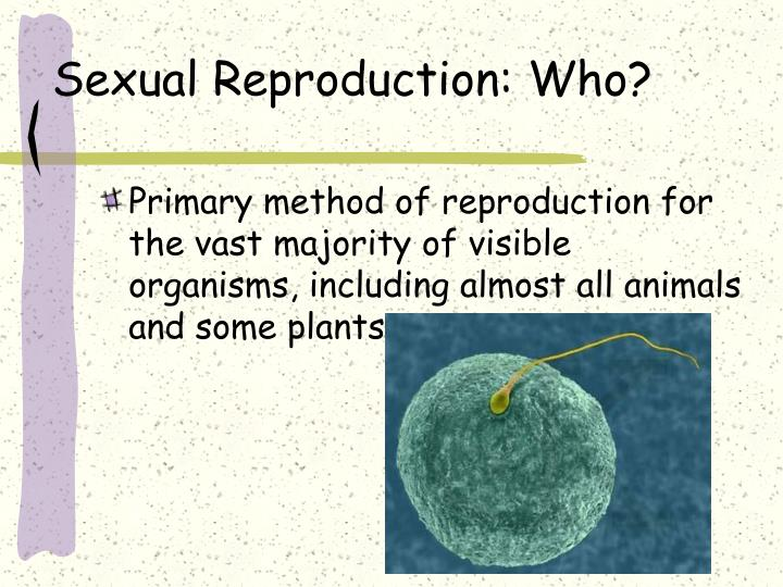 Sexual Reproduction: Who?