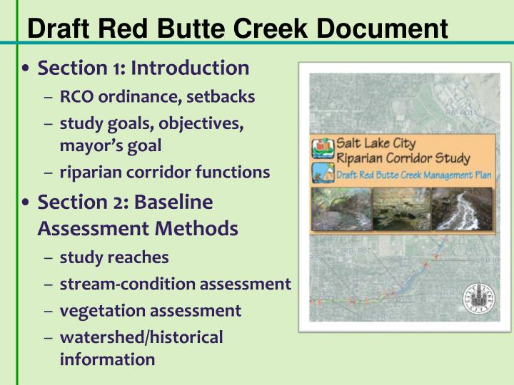 Draft Red Butte Creek Document