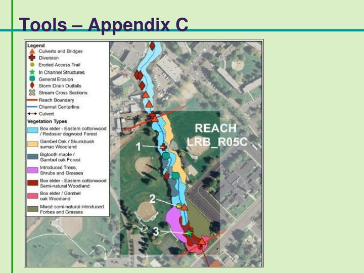 Tools – Appendix C
