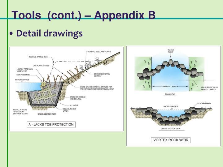 Tools  (cont.) – Appendix B