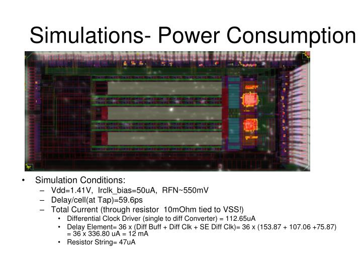 Simulations- Power Consumption
