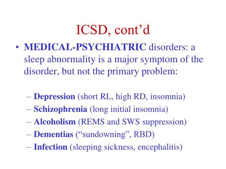 ICSD, cont'd