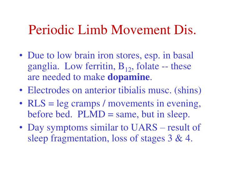 Periodic Limb Movement Dis.