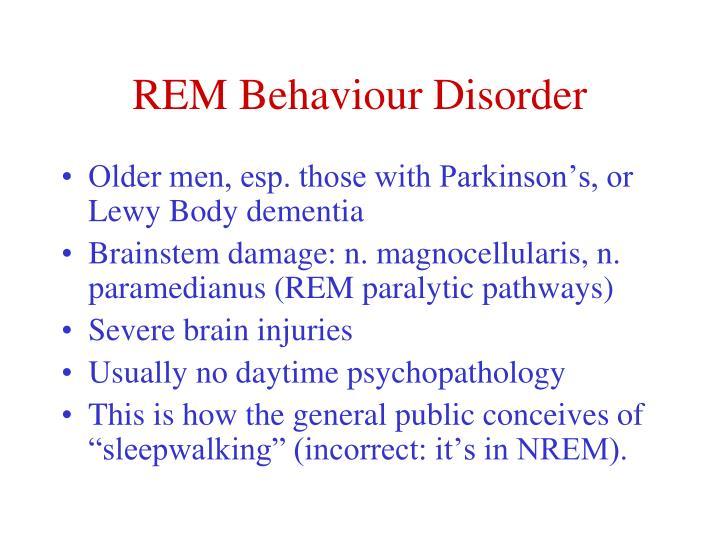 REM Behaviour Disorder