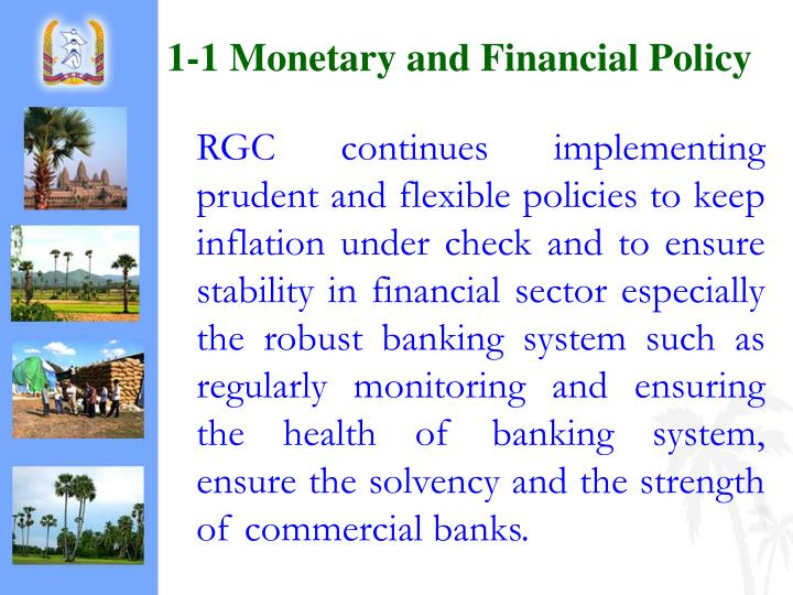 1-1 Monetary and Financial Policy