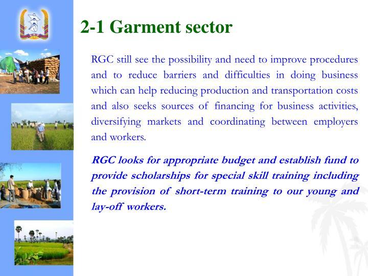 2-1 Garment sector