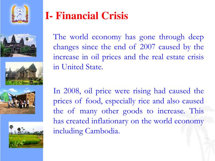 I- Financial Crisis