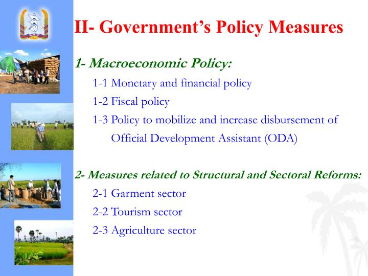II- Government's Policy Measures