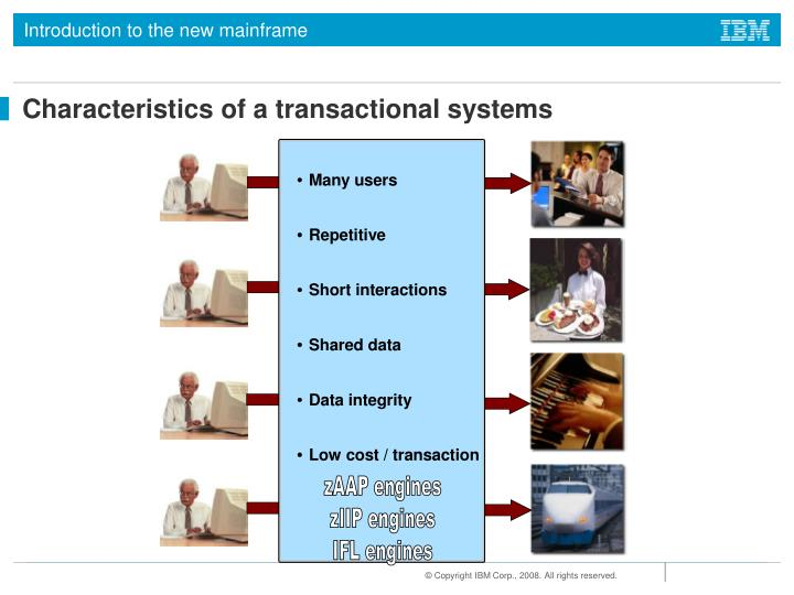 Characteristics of a transactional systems