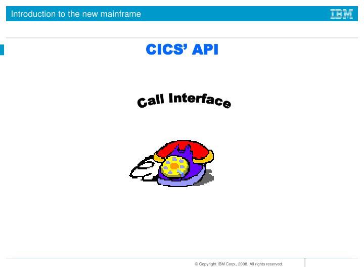 CICS' API