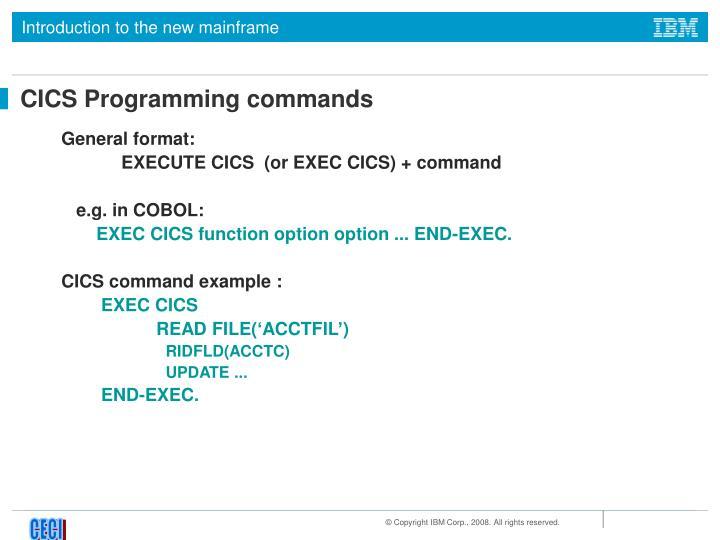 CICS Programming commands