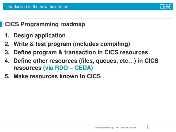 CICS Programming roadmap