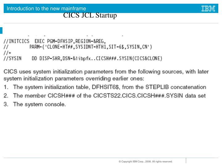 CICS JCL Startup