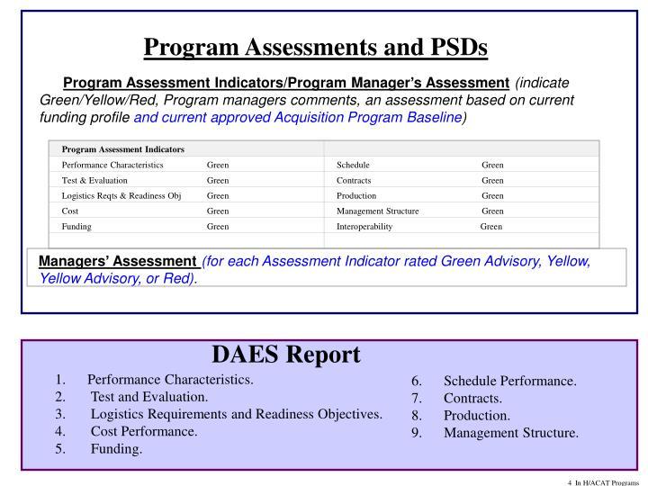 Program Assessment Indicators