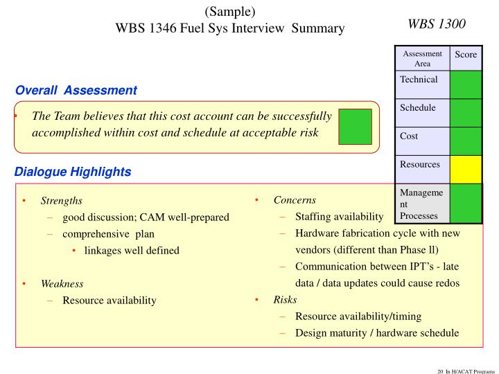 WBS 1300