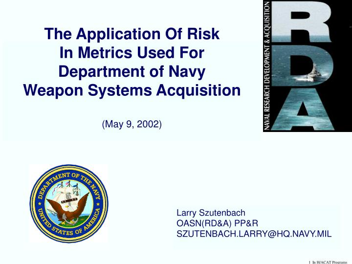 The Application Of Risk